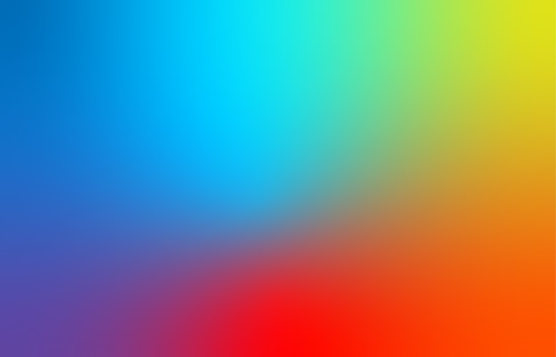Abstract blue, red, and yellow blur color gradient background for web, presentations and prints.