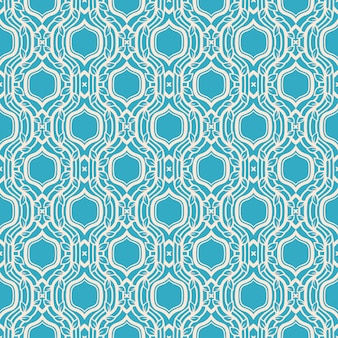 Abstract blue retro pattern with leaves and frames