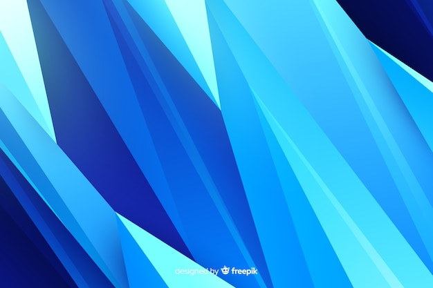 Abstract blue shapes background