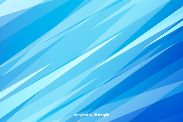 Abstract blue shapes decorative background