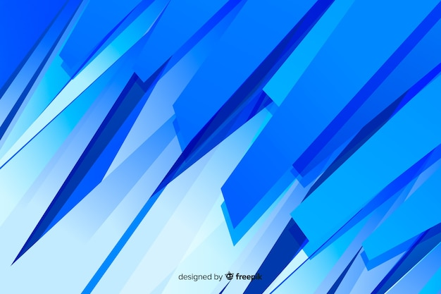 Abstract blue shapes minimalist background