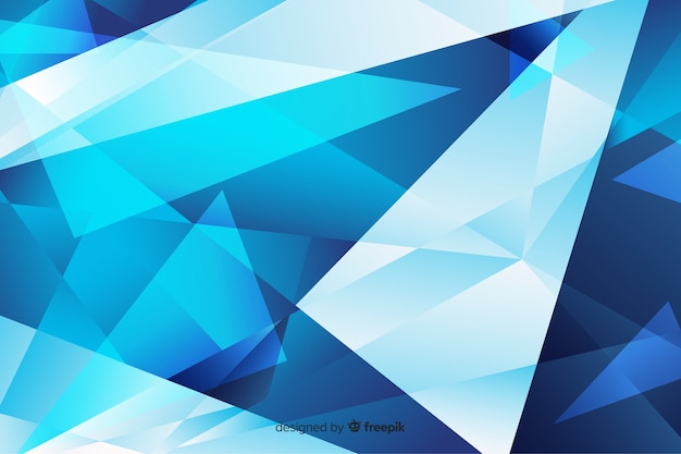 Abstract blue sharp shapes background