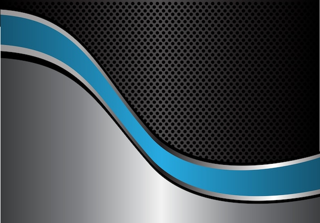 Абстрактная синяя линия серебряной линии