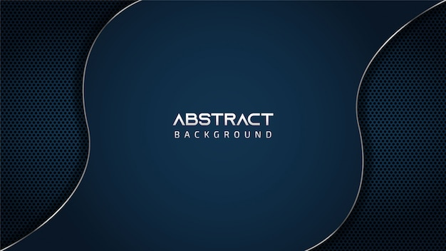 Abstract blue silver wave background with copy space for text