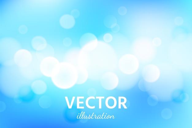 Абстрактный фон голубого неба с боке светового эффекта.