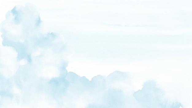 Абстрактный фон акварель голубое небо.