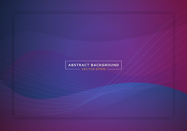 Abstract blue space landing page website banner