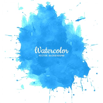Abstract blue splash watercolor background