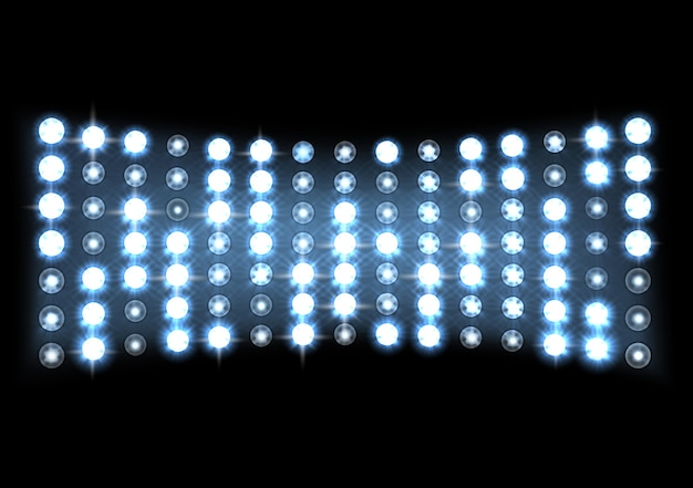 Abstract blue spotlights stage background