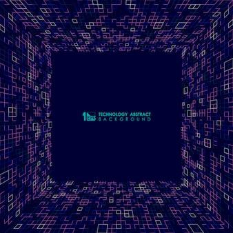 Абстрактный синий квадратный фон.