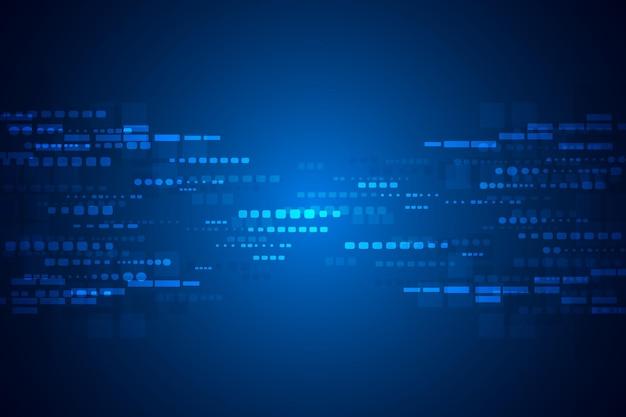 Абстрактный синий фон технологии квадратов