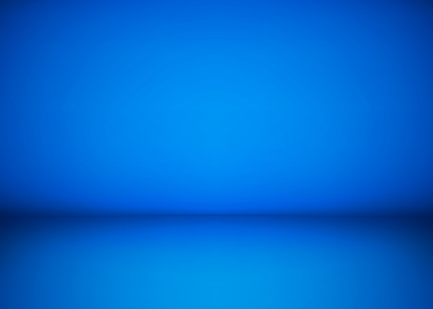 Abstract blue studio workshop background. template of room interior, floor and wall. photography workshop space.  illustration