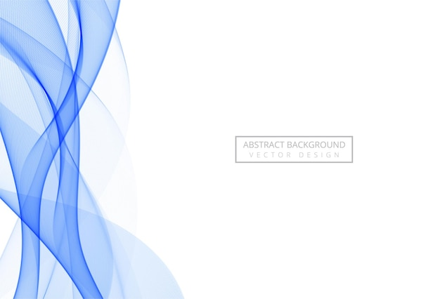 Абстрактная синяя стильная плавная волна на белом