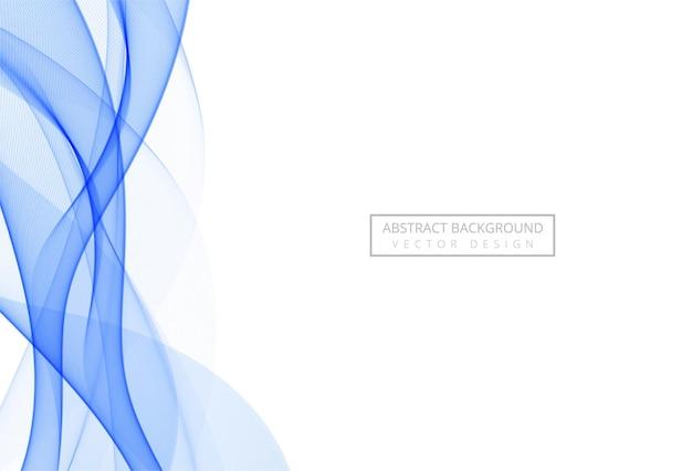 Onda scorrente alla moda blu astratta su bianco