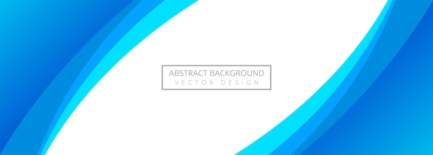 Abstract blue stylish wave banner background