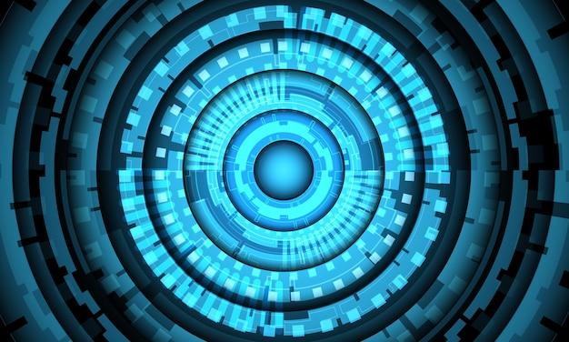 Абстрактная синяя система круг цепи кибер футуристические технологии векторные иллюстрации фона.