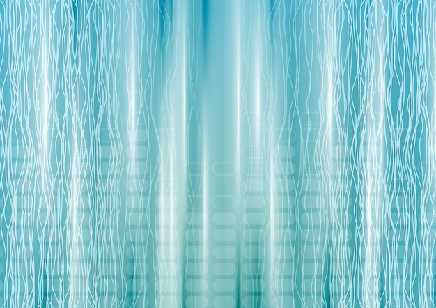 Abstract blue tech background with lines. vector design