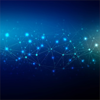 Abstract blue technology background design illustration