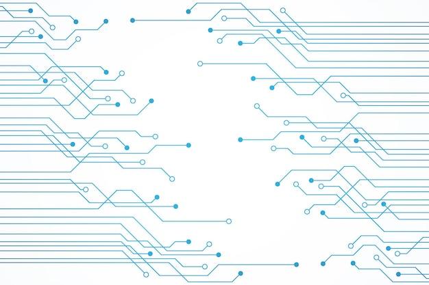 抽象的な青い技術の回路基板の背景