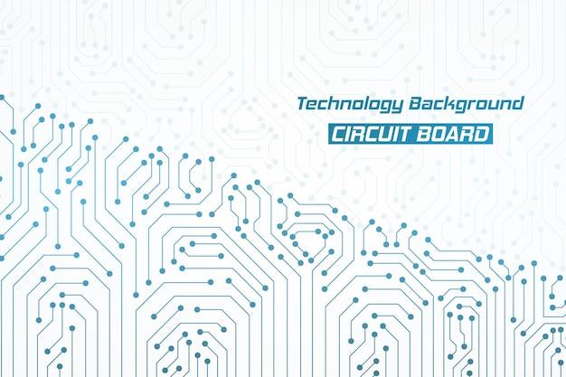 抽象的な青い技術の回路基板パターンの背景