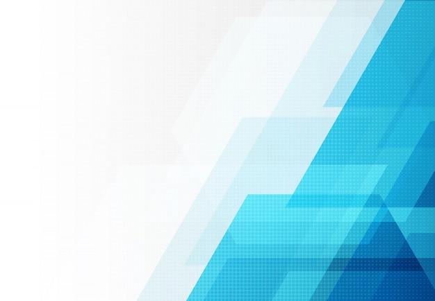 長方形とハーフトーンの背景の抽象的なブルーテクノロジーデザイン。