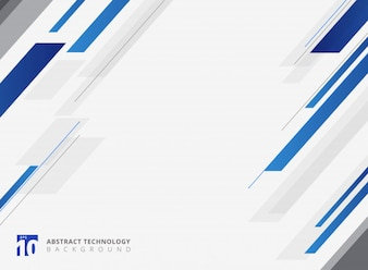 Abstract blue technology geometric diagonally background.