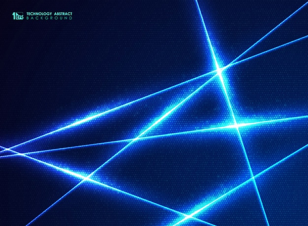 Abstract blue technology line of energy design dots pattern for big data background.