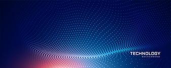 抽象的なブルーテクノロジー粒子の背景