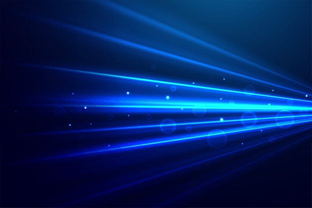 Abstract blue technology rays background