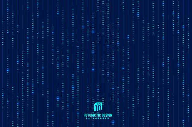 반짝이 효과와 추상 파란색 기술 수직 라인 디자인 패턴.
