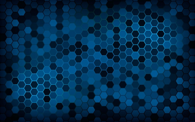 Abstract blue texture hexagon background