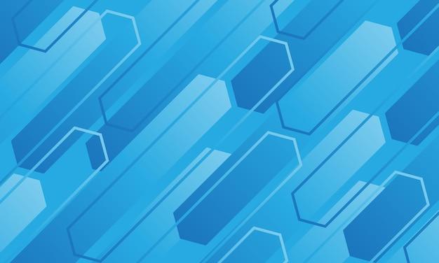 抽象的な青いトーンポリゴンライン幾何学的な速度ダイナミックモダンな未来的な背景