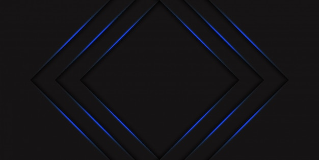 Abstract blue triangle halftone background with gradient blue neon glowing arrows. hi tech concept with shiny lines. template for banner or poster