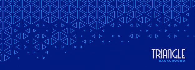 Abstract blue triangle line pattern banner design