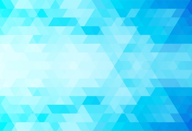 추상 파란색 삼각형 모양 배경