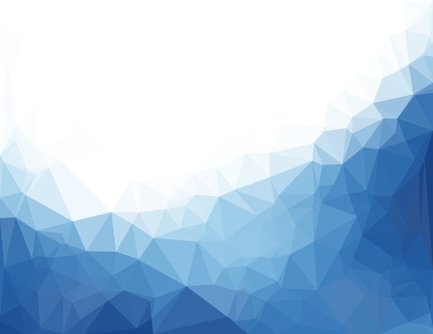 Abstract blue vector background with triangles