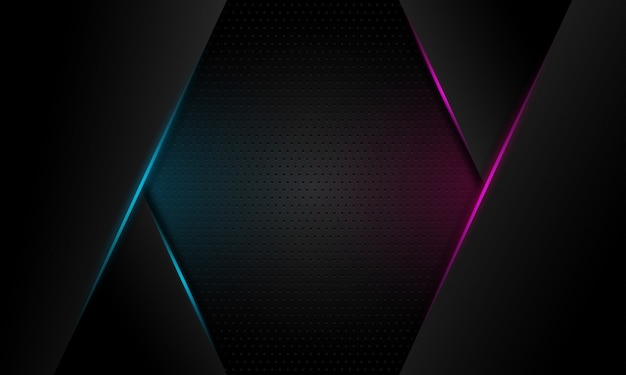 Abstract blue and violet light line slash on dark grey blank space design modern futuristic background