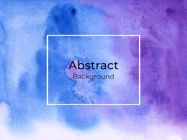 Abstract blue and violet watercolor background