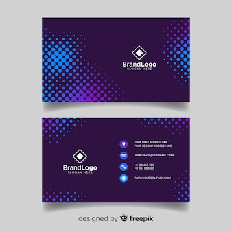 Abstract blue visiting card with logo