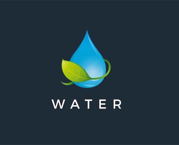 초록 푸른 물 드롭.