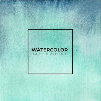 抽象的な青い水彩画の背景。手描きです。