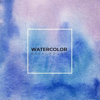 Абстрактный синий акварельный фон. это нарисованная рука