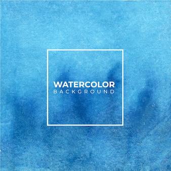 抽象的な青い水彩背景。手描きです。