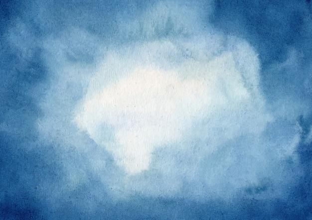 Абстрактный синий акварельный фон