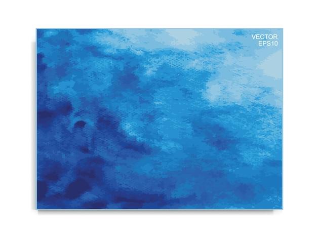 추상 블루 수채화 브러시 배경입니다. 브러시 획 패턴 및 질감. 벡터 일러스트 레이 션.