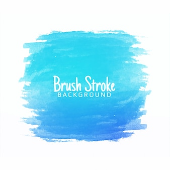 Abstract blue watercolor brush stroke design