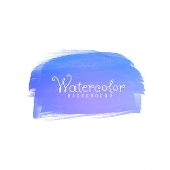Abstract blue watercolor brushstroke