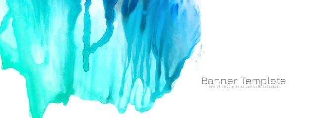 抽象的な青い水彩デザインバナー