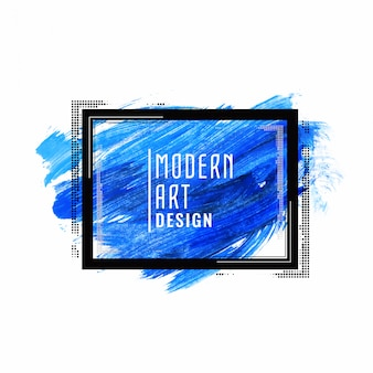 Abstract blue watercolor modern banner design