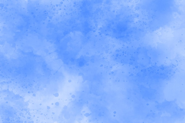 Abstract blue watercolor splatter background